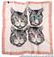 Sorprendente CAT FACE PRINT Mix Di Seta Sciarpa burqa fiocchetto amante dei gatti Regalo
