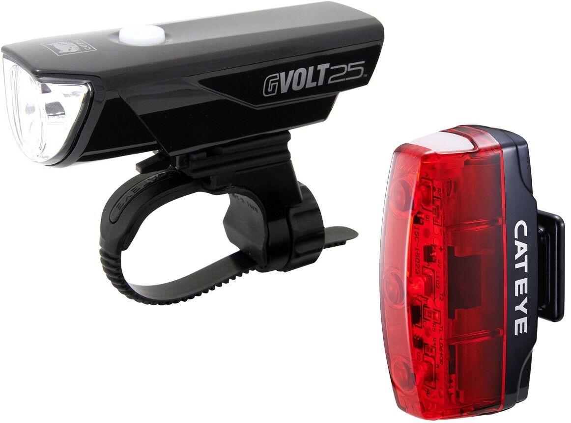 Cateye Set GVolt25 + Rapid Micro G LED Set Lampe für MTB, Rennrad USB aufladbar