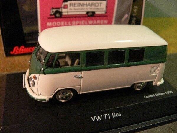 1 43 SCHUCO VW t1 BUS VERT-BLANC 45 026 0900