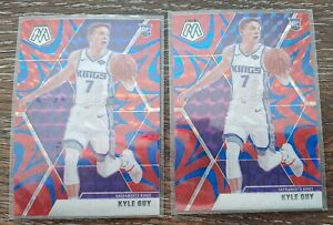 Lot-2-2019-20-Panini-Mosaic-Basketball-Blue-Reactive-Prizm-Kyle-Guy-RC-Kings
