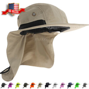 Boonie-Snap-Hat-for-Men-Wide-Brim-Ear-Neck-Cover-Sun-Flap-Bucket-Hats-Outdoors