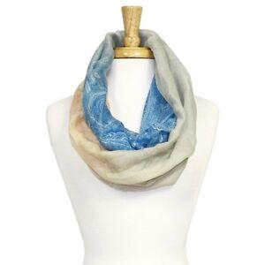 New-Womens-Fabric-Infinity-Scarf-Cowl-Snood-Blue-Orange-Grey-White-Spring-Autumn