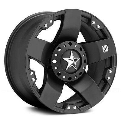 17 Inch Black Xd Rockstar Wheels Rims Chevy Truck C10 Jeep Wrangler