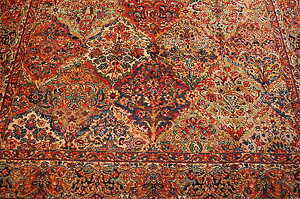 Mint Authentic Karastan Kirman Multi Color Panel Pattern
