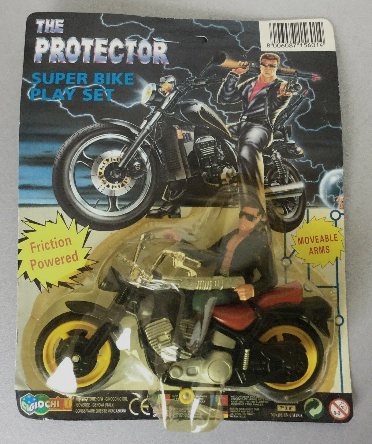 VINTAGE TERMINATOR THE PROTECTOR BIKE SET FROM 90s FIGURE (VERY RARE) NOT KENNER