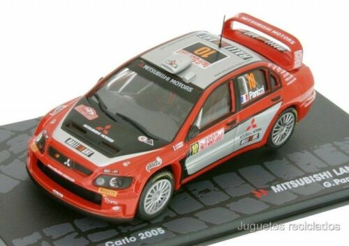 Mitsubishi Lancer WRC Panizzi Rally Montecarlo 2005 1//43 Ixo Eaglemoss Diecast