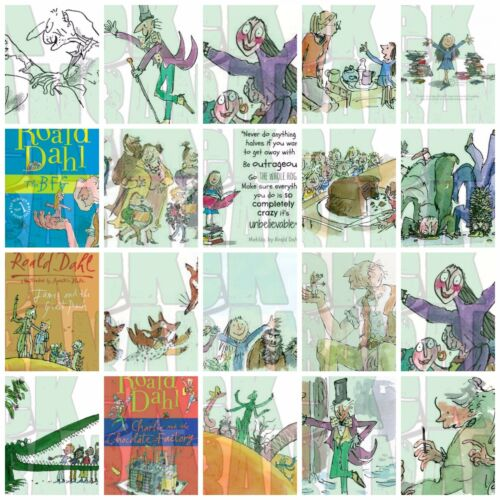 Roald Dahl  Iron on T Shirt heat Transfer diy free postage books the bfg james