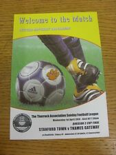 01/04/2015 Thurrock Sunday League Division 3 Cup Final: Stanford Town v Thames G