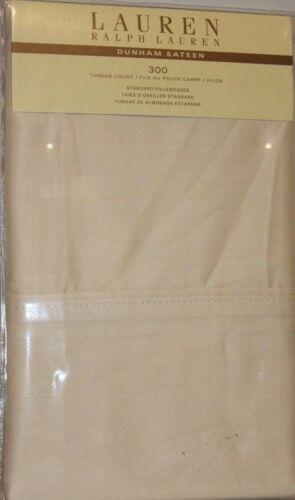 Ralph Lauren Dunham 2 Standard Pillowcases Latte 300TC 100/% Cotton Sateen Cabin