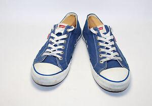 Levi's Men's Blue Classic Canvas Sneakers Shoe Size 10 - 219544 - Blue