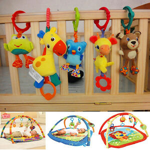 Taggies-Bright-Starts-Baby-Flutter-Squeaky-Rattle-Playmat-Stroller-Crib-Bed-Toy