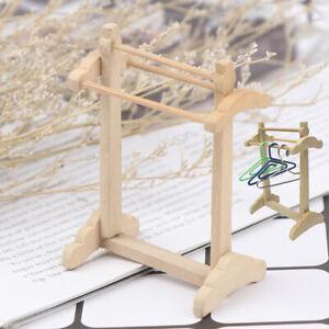 1-12-Dollhouse-Miniature-Wood-Shelf-Towel-Rack-Coat-Rack-Model-Doll-House-De-Jf