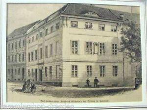 Lb1009 Holzstich Passepartout Potsdam Das Geburtshaus Friedrich Wilhelm's Iii. Ansichten & Landkarten Antiquitäten & Kunst