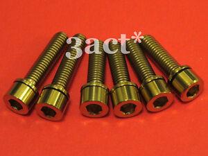 4pcs M5 x 18mm Titanium Ti Bolt with Ti Washer fit Thomson Elite X2 Stem Black
