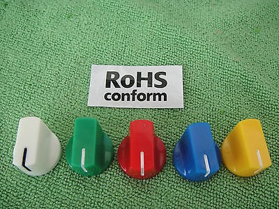 "5x5 color 1/4"" Davies style Knob 4 Guitar Pedal effects Rotary Pots Switch CFK"