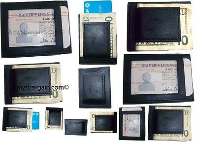 12 Uomo Pelle Money Clip Di Credito/identità Portafoglio Con Magnetico