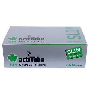 Actitube Aktivkohle Filter Tune Slim Aktivkohlefilter Stück Acti Tube 7mm 500