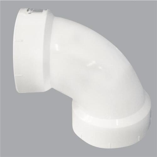 "5 Pk Genova 4/"" PVC SCH 40 Drain Waste Vent Pipe 90 Degree 1//4 Bend Elbow 72840"