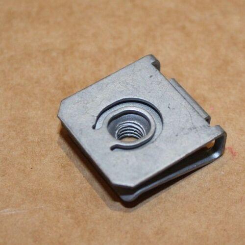 Qty 5  M6 THREADED ZINC PLATED SPRING SPIRE C CLIPS U NUTS CHIMNEY NUTS