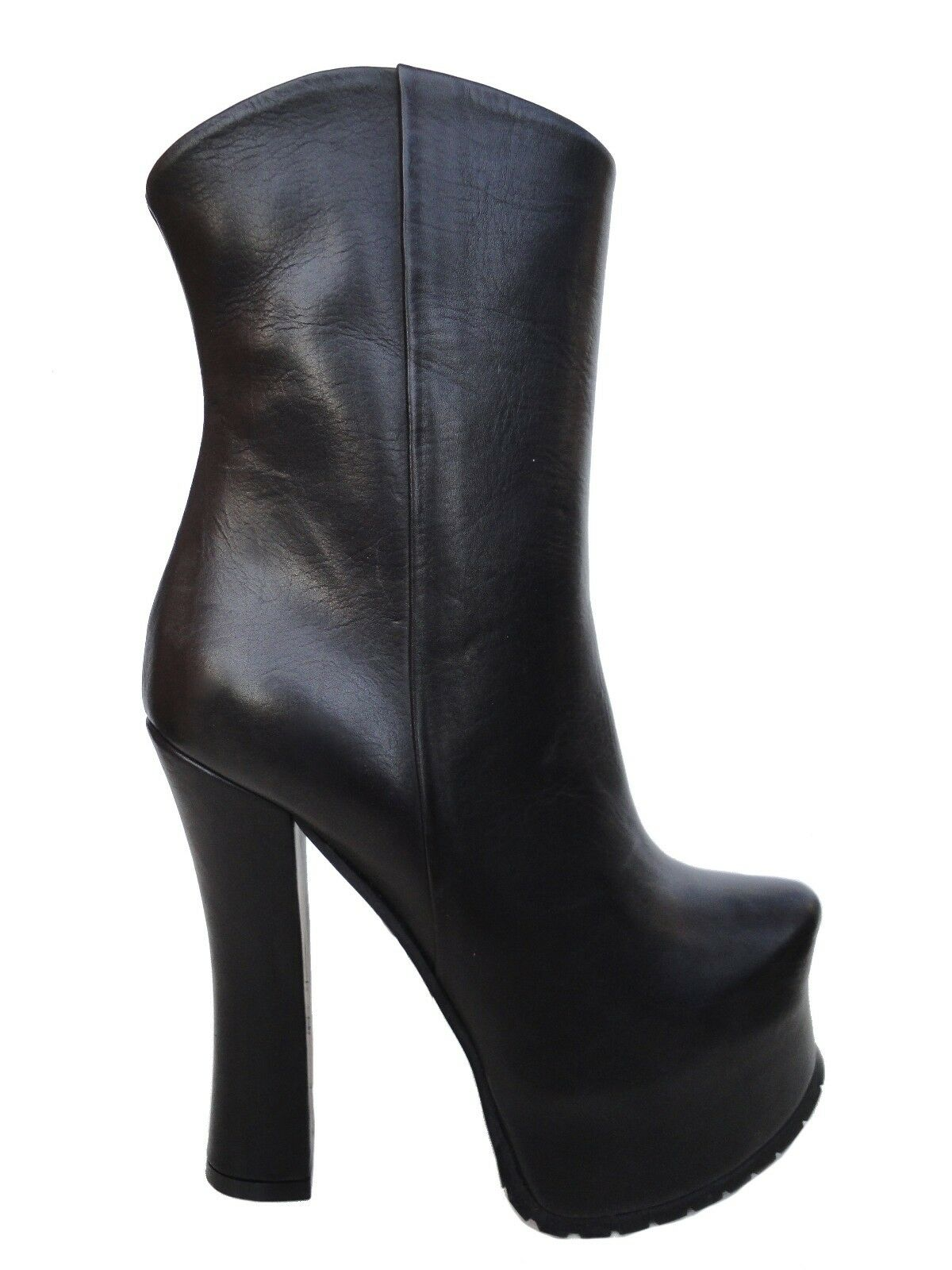 CQ CQ CQ COUTURE MADE TO ORDER PLATFORM BOOTS STIEFEL BOOTS LEATHER BLACK BLACK 39 30cd40
