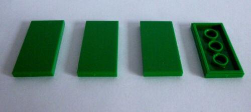 4 X LEGO ® 87079 sistema pietra tessera//piastra in 2x4 nel verde nuovi.