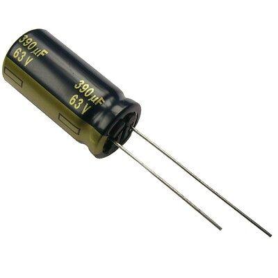 2 Elko Panasonic FC 390uF 63V 105°C Low impedance Kondensator radial 854377