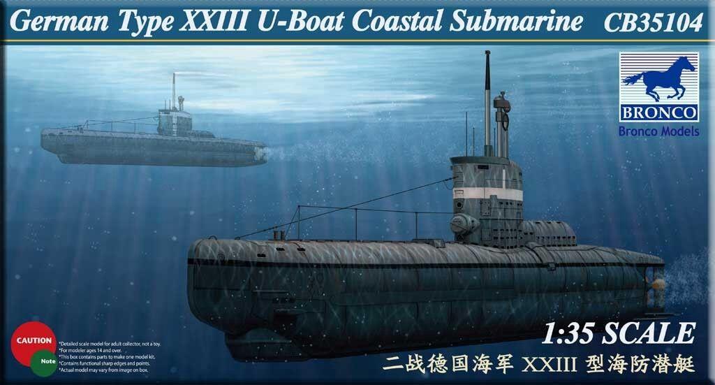 Bronco 1 35 CB35104 German Type XXIII U-Boat Coastal Submarine model kit