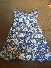 Nice women's junior's size XS S Small Papaya Clothing blue white cream dress
