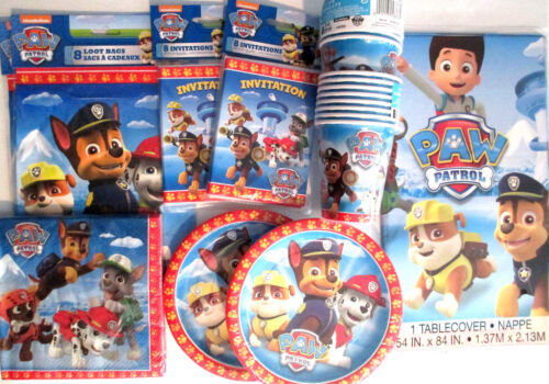 Birthday Party Supply DELUXE Kit w// Invitations /& Loot Bags Nick Jr PAW PATROL