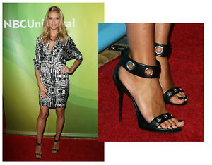 huge selection of pre order official images Details about Black / Red Celebrity Style* Strappy Heel Sandal Shoes, US 6,  6.5