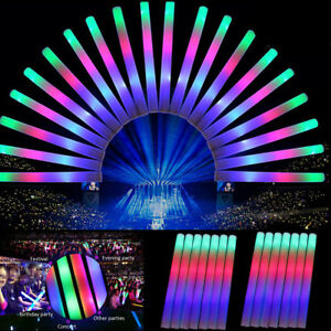 100-PCS-Light-Up-Foam-Sticks-LED-Wands-Rally-Rave-Batons-DJ-Flashing-Glow-Stick
