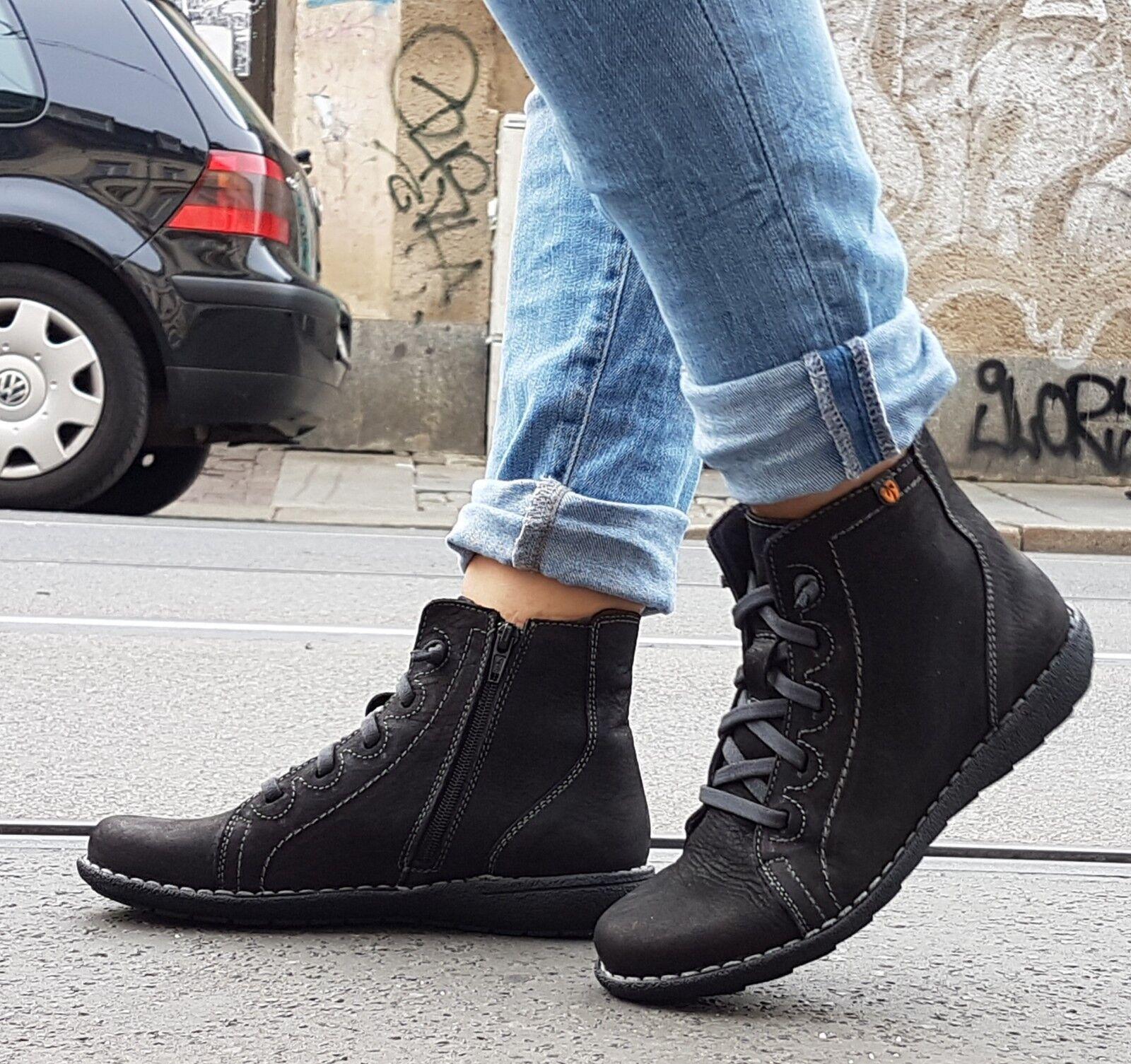 Jungla zapatos 5248 Reims estrella negra dad estrella negra negra negra de cuero genuino original suela de caucho  cómodamente