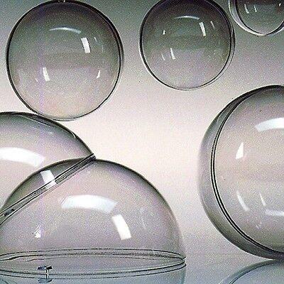 Acrylkugeln Plastikkugel Kunststoffkugeln teilbar transparent 30 - 200mm wählbar