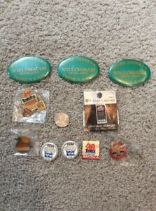 MISCELLANEOUS-GROUP-OF-NOTRE-DAME-FOOTBALL-BOWL-PINS-EXTRA-BUTTONS-INCLUDED