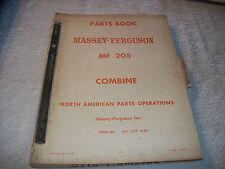 Original Massey Ferguson Mf 205 Combine Parts Book Manual