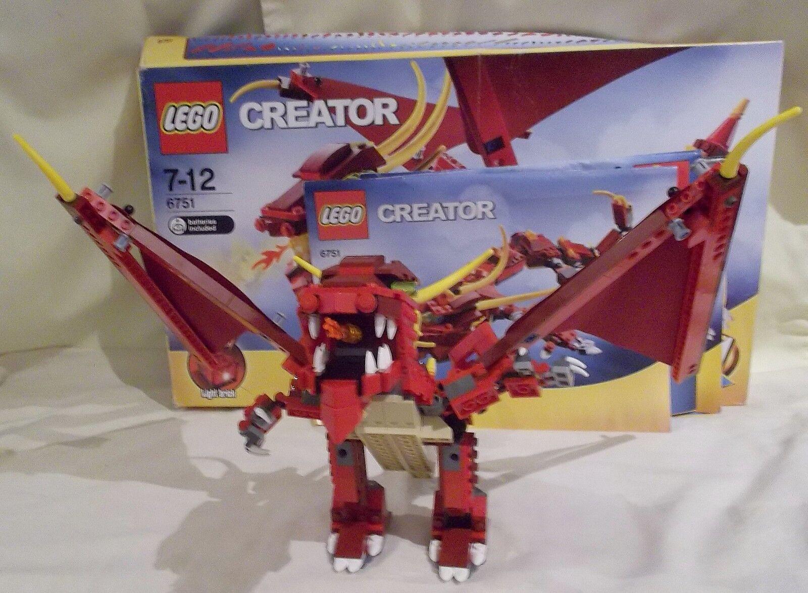 LEGO CREATOR FIERY LEGEND 6751 (1)