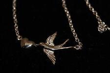 NAHU Halskette Schwalbe mit Herz NAN-LOVEBIRD silber 925