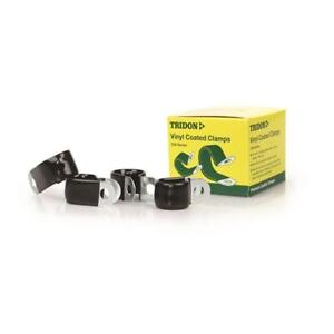 Tridon-Vinyl-Coated-Hose-amp-Cable-Clamp-10mm-3-8-034-Dia-20mm-Band-10mm-Hole-10pk