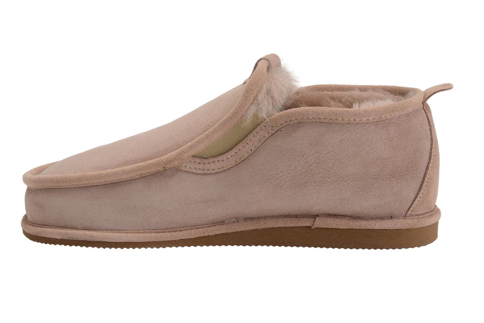 New  Uomo House Sheepskin Moccasin Slippers with Warm Sz Real Wool Lining UK Sz Warm 7-10 e029c7