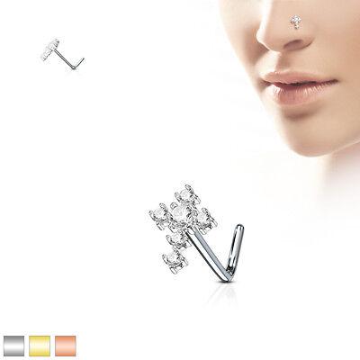 Nose CRAWLER Gem Stud Stainless STEEL BONES Rings Screws BODY Piercings Jewelry