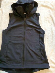 Women-039-s-Size-S-Columbia-Black-Hooded-Full-Zip-Vest-BW