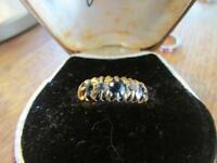 Beautiful Edwardian 18ct Gold Sapphire & Diamond Ring