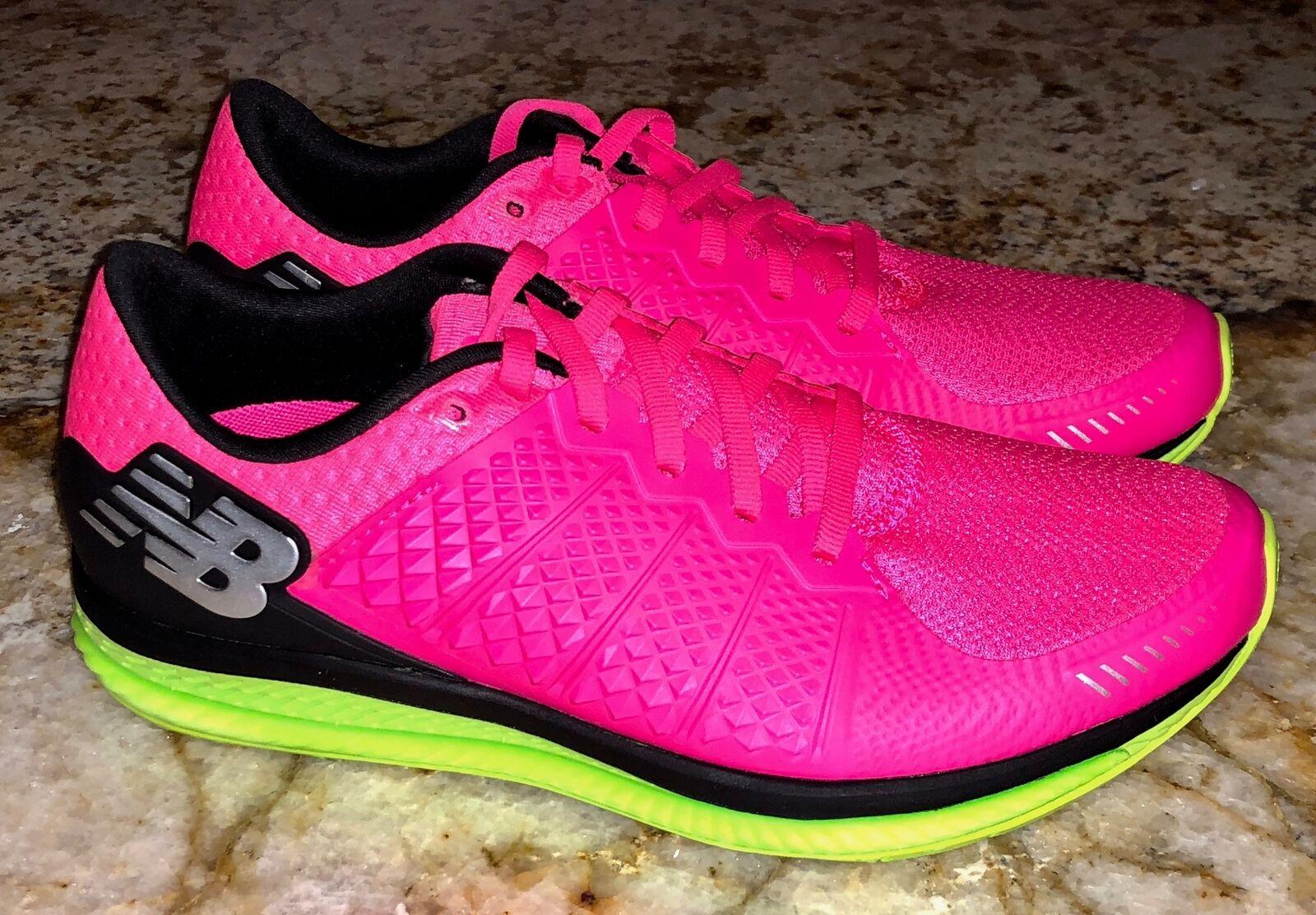 New Balance FuelCELL Alpha Rose Noir Citron Vert chaussures de course pour femme sz 7