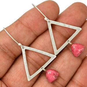 Pink-Thulite-Norway-925-Sterling-Silver-Earrings-Jewelry-AE101307-145R