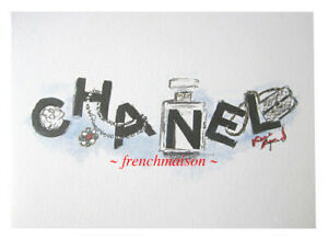 AUTHENTIC-CHANEL-Sketch-Karl-Lagerfeld-Card-Pearl-Necklace-No-5-Pin-Handbag-Bag