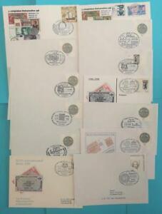 Utile Bund Lot L'euro 45 Lettres, Cartes Union Monétaire Jour De La Timbre Sonderst.-afficher Le Titre D'origine Marchandises De Proximité