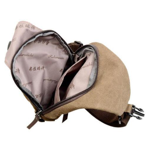 Herren Canvas Vintage Schultertasche Messengertasche Umhängetasche Wandern Bag