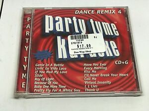 Details about PARTY TYME KARAOKE DANCE REMIX 4 CD+G LYRIC BOOK INCLUDED 16  TRACKS!
