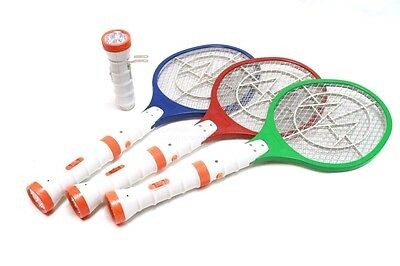 DLUX Electric Bug Zapper Racket, Fly Swatter, Rechargeable w/Dual LED  Flashlight | eBay