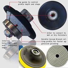 """3/8"""" Bevel bullnose E10 10mm Diamond Router 3"""" Granite 12+1 Pad Concrete Marble"""